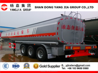 Fuel /crude oil/liquid food/liquid gas tanker semi trailer made in China