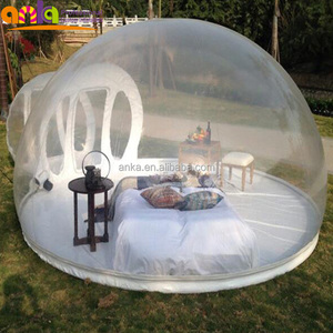 Outdoor camping clear inflatable air dome igloo lawn transparent bubble tent for sale