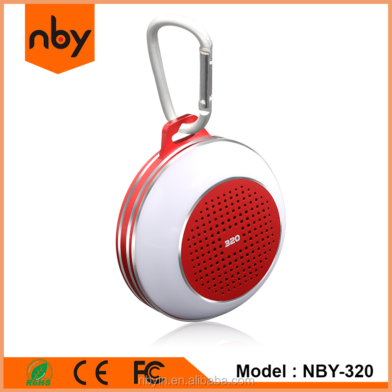 portable mini led bluetooth waterproof speaker with fm radio