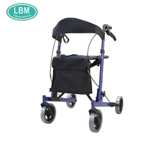 trolly shopping cart folding walker rollator with knee support