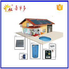 Pressurized solar heating system evacuated tube solar thermal collector