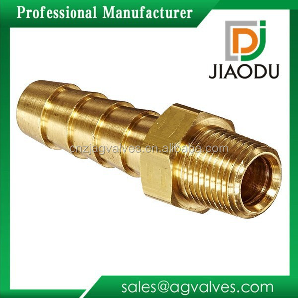 Bottom price most popular male copper hose barb fittings