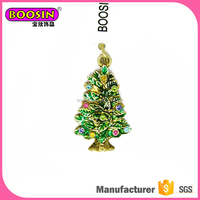 Wholesale 2017 enamel jewelry charm, christmas tree small pendant