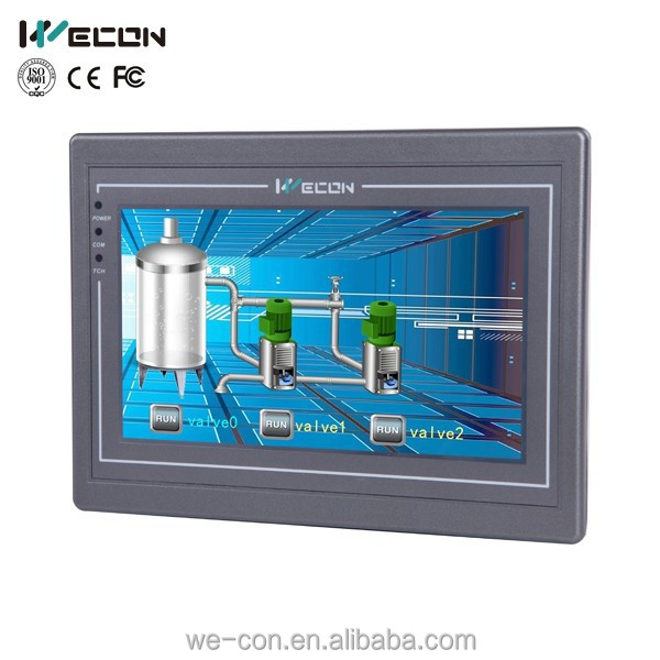 Wecon 7 inch industrial hmi, human machine interface,industrial automation interface