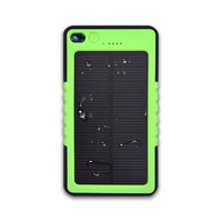 Factory wholesale 6000mah portable solar power bank with led light