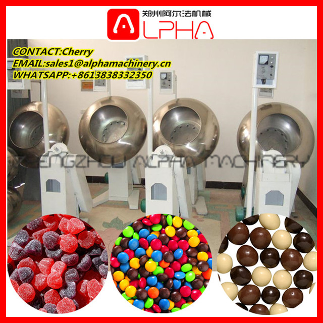Candy type chewing gums sugar coating machine /powder coating oven for sale