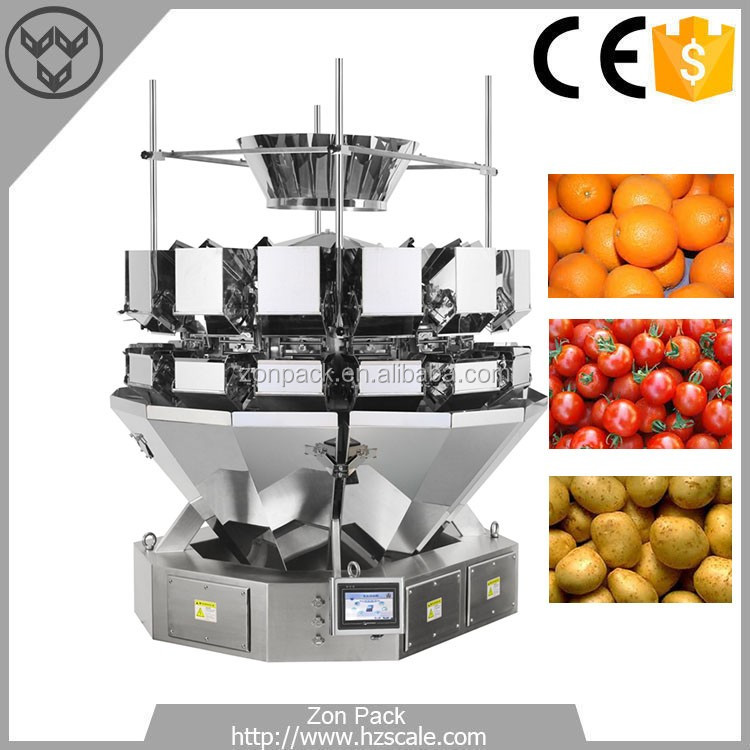 Good Quality 5L Hopper 14 Heads Multihead Weigher Weighing Scales for Fruits