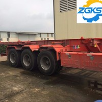 Transport Equipment Skeleton Container Trailer With