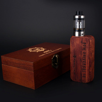 Kamry 80W TC 26650 regulated box mod with wood packing case CE ROHS FCC certificate