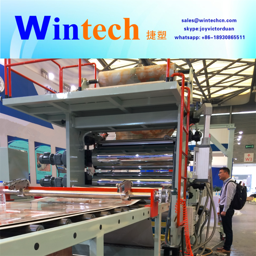 PVC Plastic artificial marble plate sheet board production line extrusion machine plant making machine