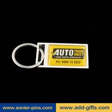 customized key chains and make acrylic keychains manufacture china with zinc alloy