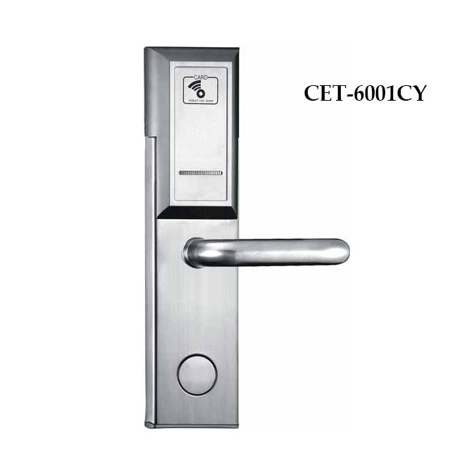 high security electronic hotel door handle locks with plate