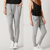 China Supplier Wholesale Custom Wide Side Pocket Women Jogger Sweatpants Loose Fit Plain Fashion Grey Sweat Pants