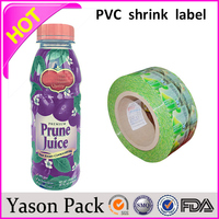 Yason pvc shrink film for packaging top selling pvc heat shrink sleeves heat shrinkable seal security label stick on roll automa