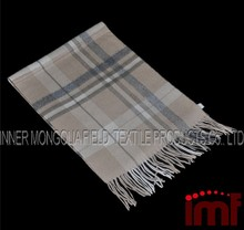 Pure Mongolian Cashmere Scarf Cashmere Plaid Scarf