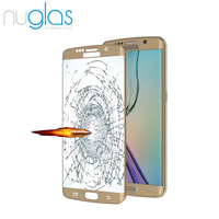 Nuglas Ultra Thin 9H Hard Full Body Cover Tempered Glass Protective Film for Galaxy S6 edge