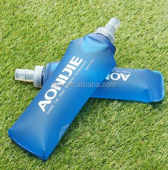 Outdoors Foldable Blue Water Bottle Traveling Sport Running Cycling Kettle Healthy Soft Material Hiking Camping Jug 250ML 500ML