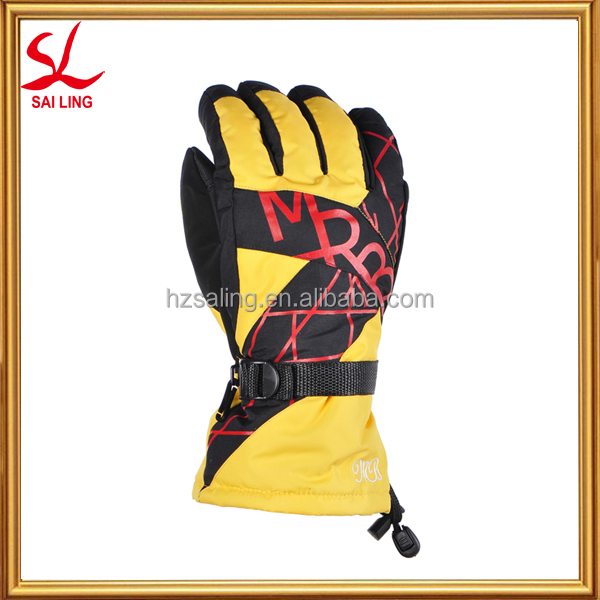 High Quality Waterproof Yellow Ski Gloves Thinsulate Knitted Glove