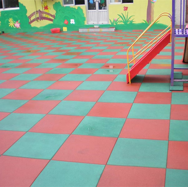outdoor tiles for driveway/Playground Square rubber tile