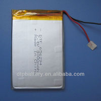 3.7v rechargeable 1100mah li polymer battery for gps