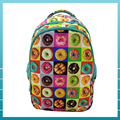Custom sweet donut series polyester school backpack for teenagers