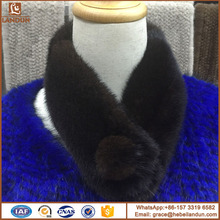 Selling factory direct supply premium quality mink fur scarf
