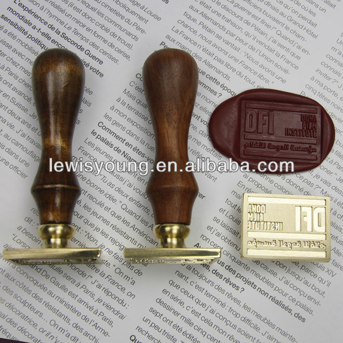 2018 Wooden Embossing wax seal / wax sealing stamp