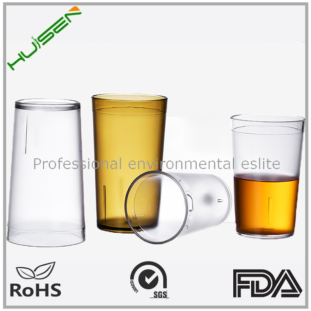 Cheap price custom print crystal plastic beer glass wine glass