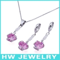 Hot sales red jewelry set 925 sterling silver