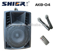 SHIER AK8-04 8 Inch USB SD China extreme power amplifier with wireless microphone