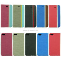 PU Leather flip cover case for iPhone