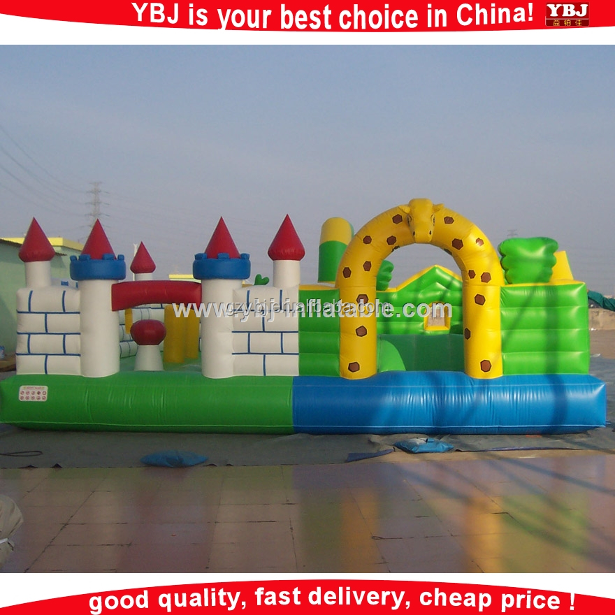 Guangzhou YBJ pvc material inflatable play gym, inflatable play center, inflatable play area
