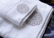 luxury face towel, 70 x 40cm, 180g, 16S 100% cotton 5 star hotel use thick and soft face towel