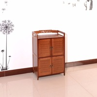 New Arrival!Antique Bamboo two different color choosenable multifunctional Storage Cabinet with four doors