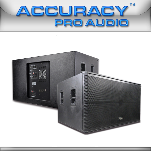 1000W Speaker Box Active Dual 18-Inch Subwoofer WP218SA