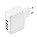 4 Port 2.1A Wholesales Wall Adapter  EU US Plug  Fast Universal Travel USB  Charger For Cell Phone