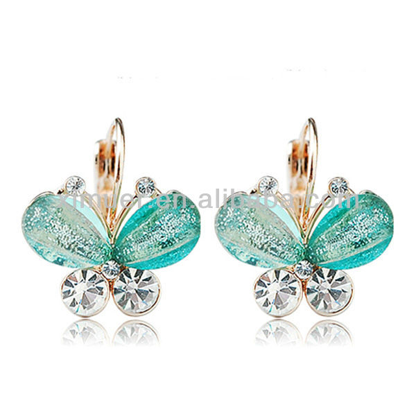 Fashion clip on earrings,Latest design butterfly earrings