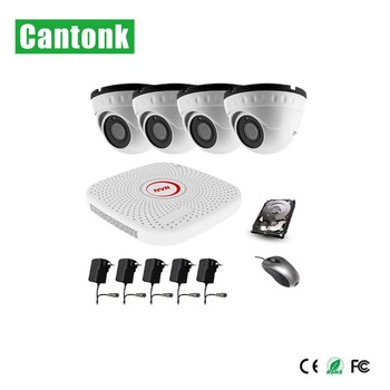 Cheap 4CH AHD DVR 4 in 1 Cctv Camera Kit For Home Indoor Use