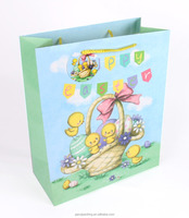 157gsm Baby Item printed gift paper bag with glossy lamination