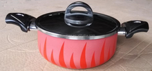 Aluminum non stick fire design cookware casseroles factory sauce pot