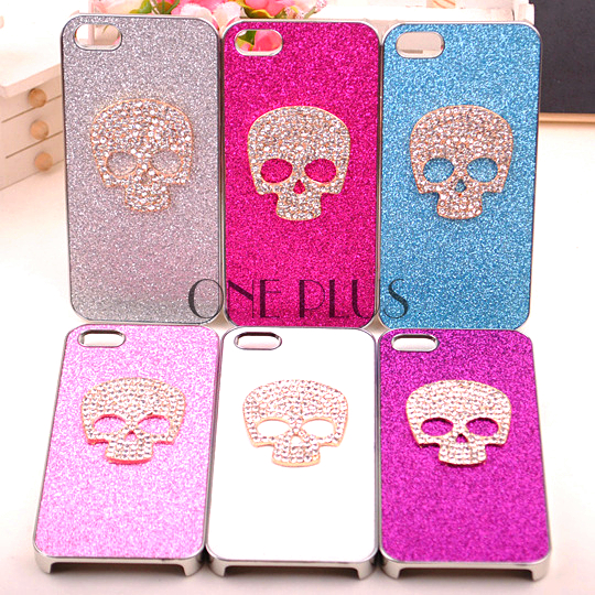 Creative Unique Design Skeleton Rhinestone Phone Case For Iphone4 4s / Iphone5
