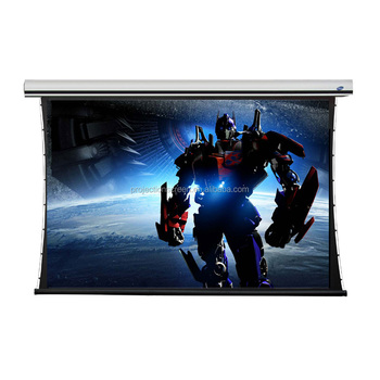 FUTURE luxury tab tension projection screen with soft matte white fabric