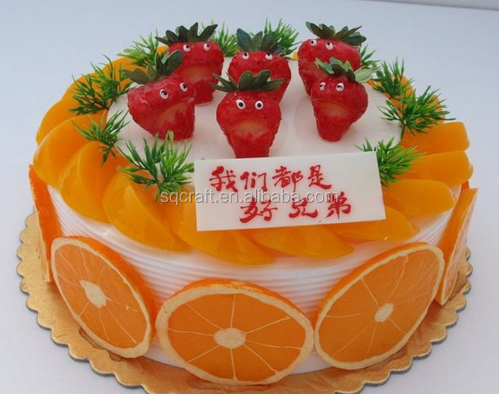 Birthday Cake Model With High Quality Fruit Decoration