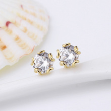 fashion earrings simple style cz studex ear piercing