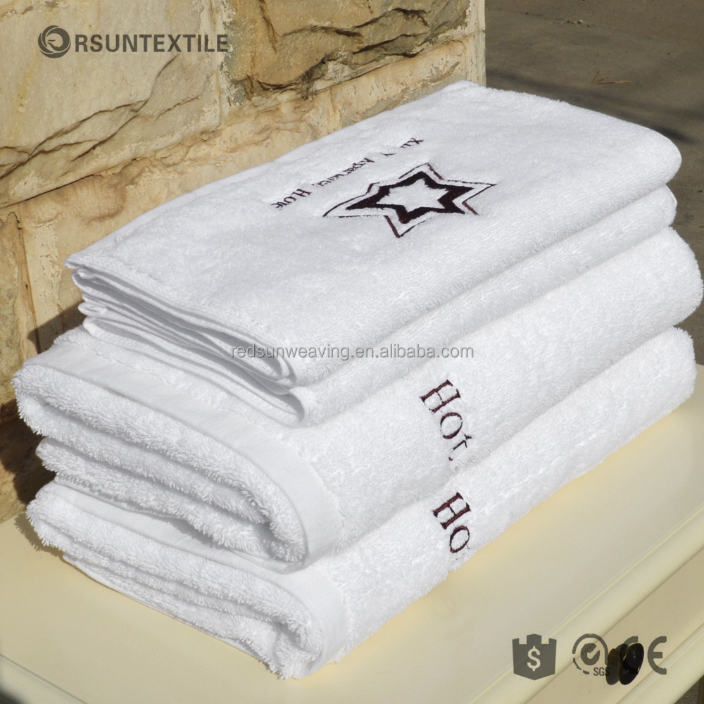 China supplier 100% cotton embroidered white hotel hand towels online