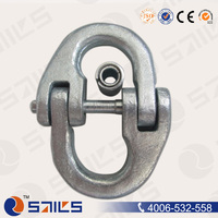 high quality european type forged galvanized g80 anchor chain connecting link
