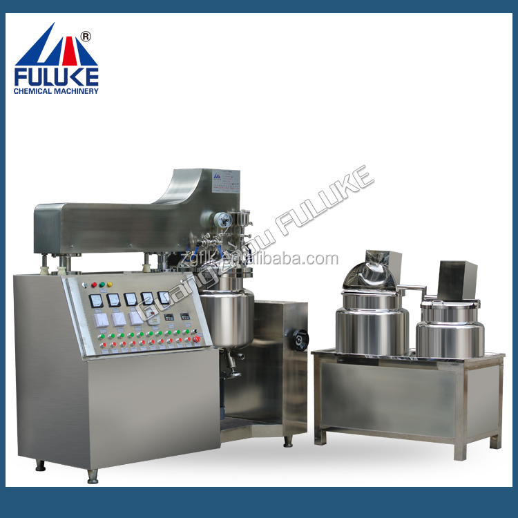 voox dd cream vacuum making machine with upper homogenizer