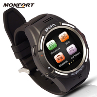 new design waterproof cheap touch screen pedometer sport watch phone Wireless Bluetooth android 4.4 smart watch