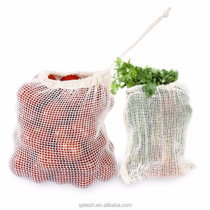 Qetesh Eco-friendly Germany Quality Custom Organic Cotton Mesh Bags