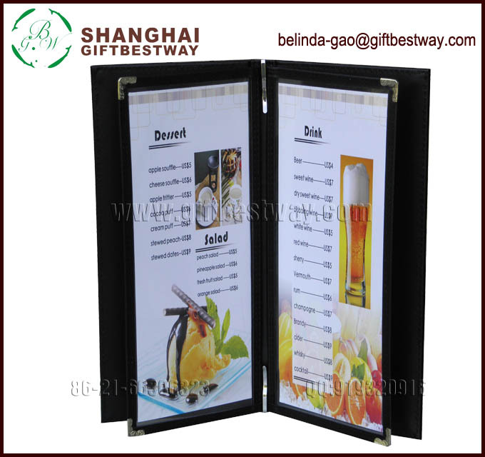 price competitive wholesale high quality catalog cover design hotel menu card eco friendly. Black Bedroom Furniture Sets. Home Design Ideas